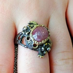 Jewelry - Artist Designed Sterling Frog Ring